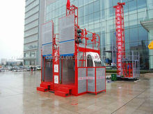 double cabins or cages 0.5-4 ton high rise building construction hoist lift elevator for materials with autocontrol speed system