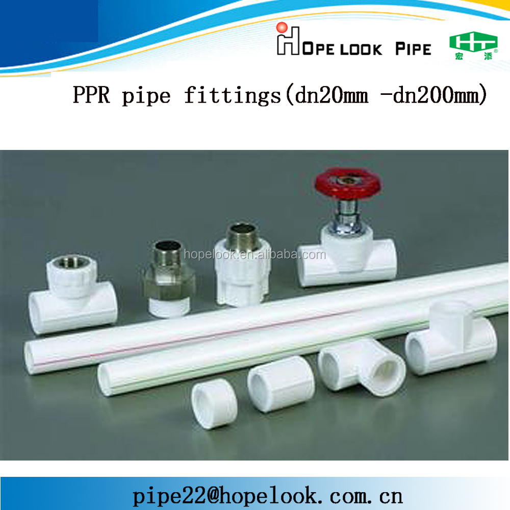 High Quality PN25 Pressure Injection Green PPR Pipe <strong>Fittings</strong> 125mm plastic tubing connectors <strong>fitting</strong>