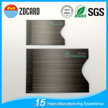 Custom Aluminum Foil Smart Passport RFID Blocking Card Holder