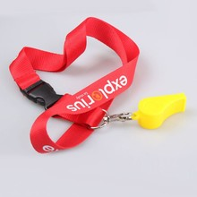 Customized top quality whistle with lanyard sample free