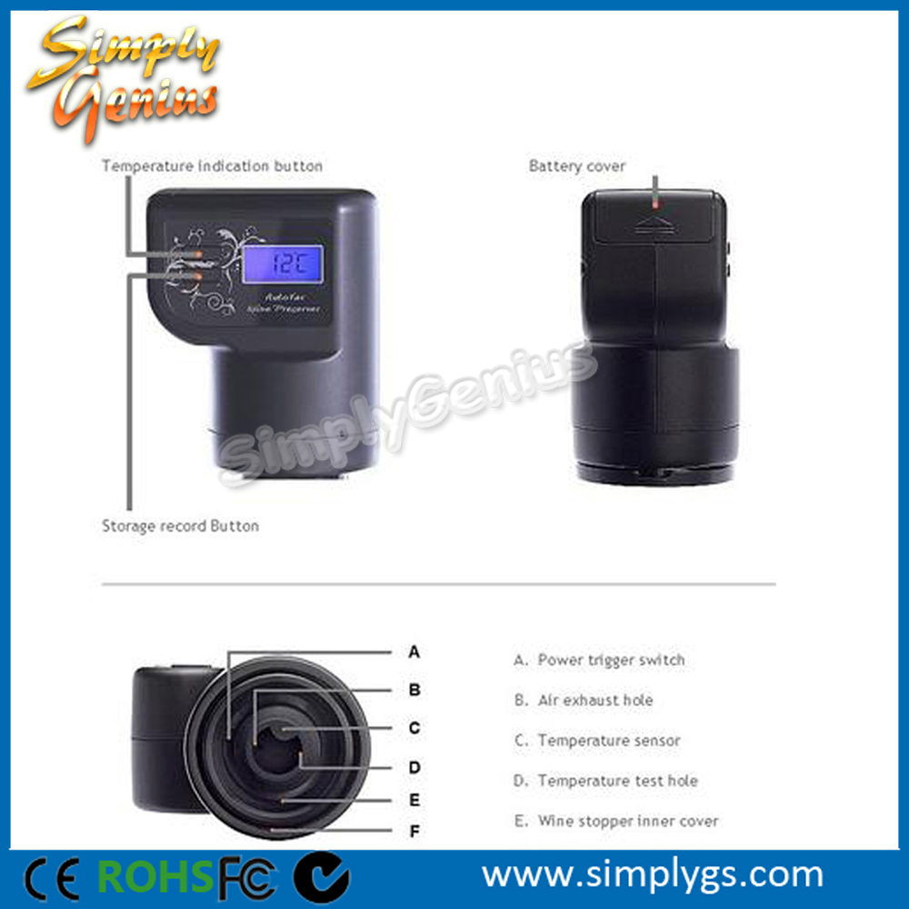 (Exclusive) Smart Automatic <strong>Wine</strong> Bottle Saver Cork Vacuum Preserver Stopper