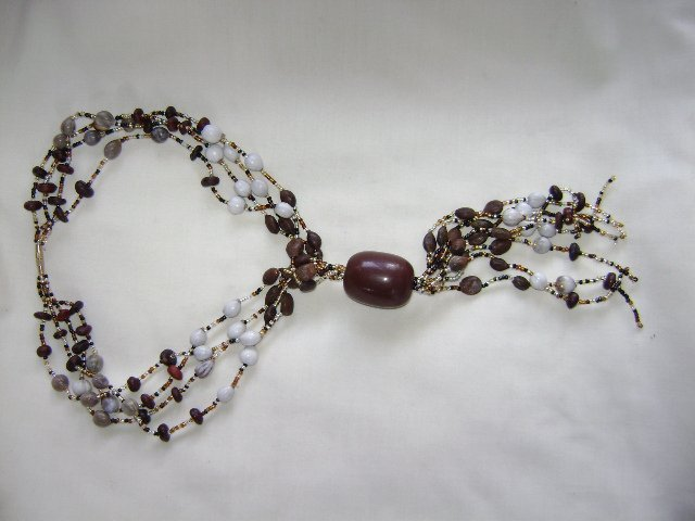 Beads, Local Seeds and Seashell Necklace