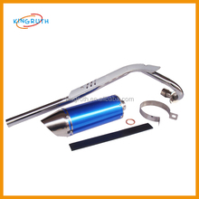 CNC universal short dipped finish exhaust pipe exhaust system fit blue color