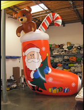inflatable christmas stocking/inflatable lowes christmas inflatable decoration