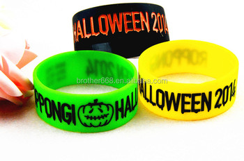 Customized rubber ink filled/debossed silicone rubber bracelets/wristbands