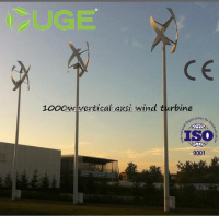 UGE-3M 1000W Small Vertical Axis Wind Turbine , Wind Power Generator ,Off grid Wind Power System