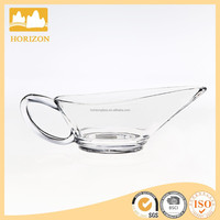 Handmade clear glass gravy boat cream,classic glass gravy boats sauce boat