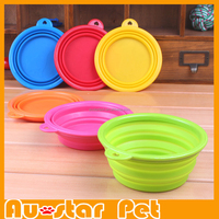 Strong Portable Pet Shop Products Dog Pet Collapsible Silicone Bowls