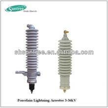 SY5C-36 Electrical equipment 35kv Porcelain lightning arrester