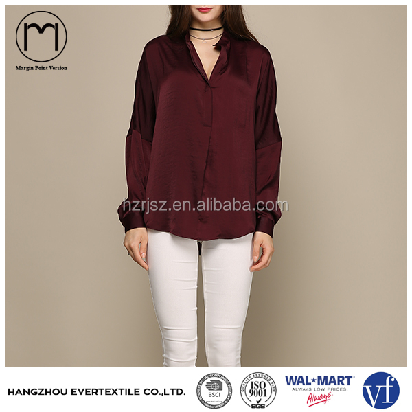 Apparel Supplier Ladies Long Sleeve Loose Shirt Clothing uk