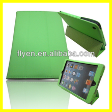 Hot Selling shock Proof trifolding pu leather Case for iPad mini with stand