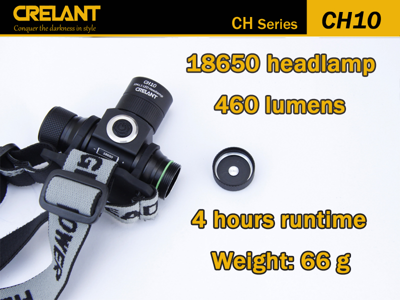 CRELANT CH10 <strong>Headlamp</strong> CreeXM-L2 <strong>LED</strong> 460 lumen Stepless Dimming Outdoor Lighting Lantern Torch Flashlight for Biking Camping