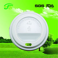 4oz 60mm plastic cup lid with hole white and black HIPS solo style