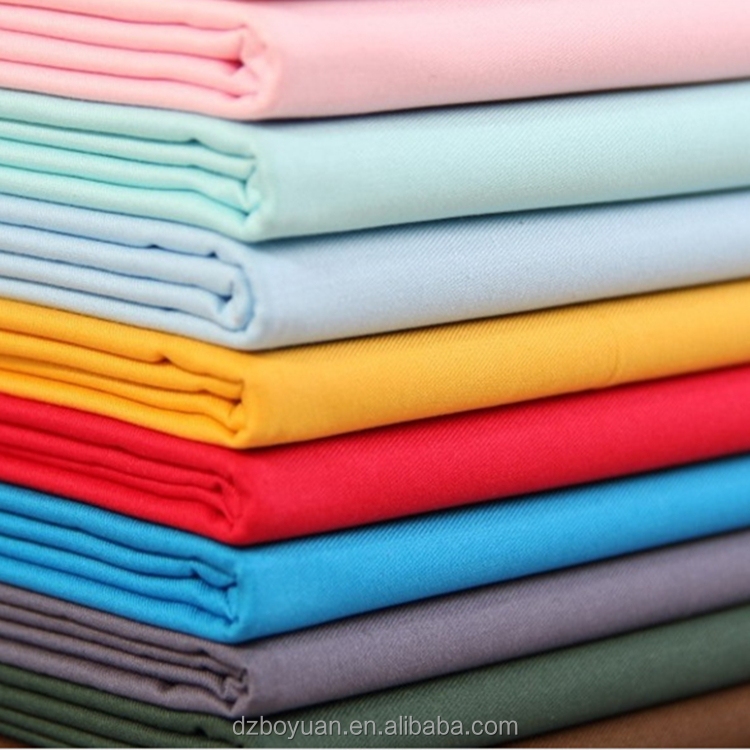 100% cotton fabric 21x21 21s 100x52 woven cotton twill style fabric