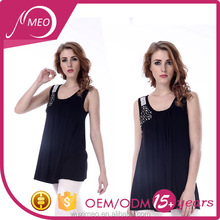 Most popular best-selling black sleeveless fit blank t-shirts