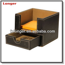 Promotion faux leather desk drawer organizer tray LG8050