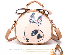 High quality hot selling adorable geniune leather animal print handbag