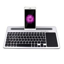 Best price ultra slim wireless aluminum mini bluetooth keyboard touch pad for samsung galaxy note 8.0