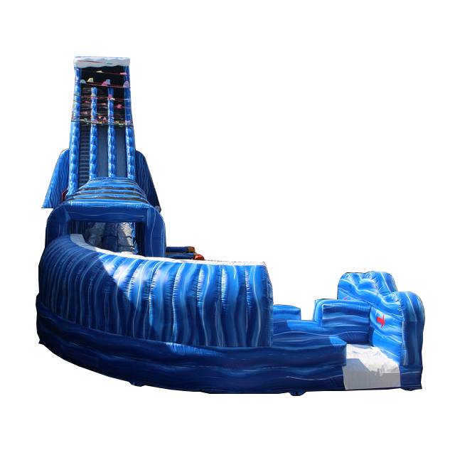 New design hippo adult size jumbo water slide inflatable