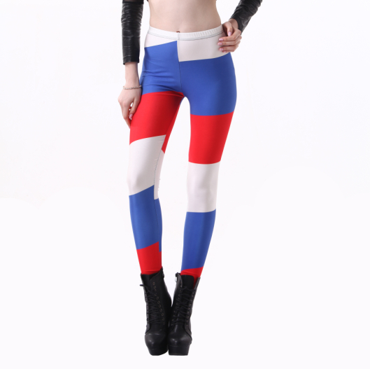 2014 world cup Russia flag women leggings custom printed leggings nude girls pictures sexy pantyhose leggin S106-448
