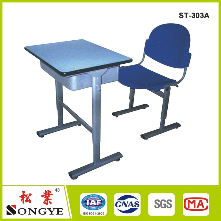 Good quality colorful study desk kids tables chairs with height adjustable