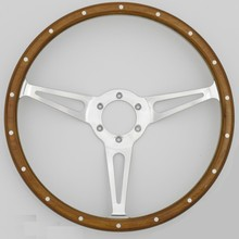 Classic wood steering wheel Restoration for Vintage Ford Mustang Shelby AC Cobra