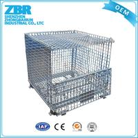 Corner container rolling wire mesh container collapsible steel container