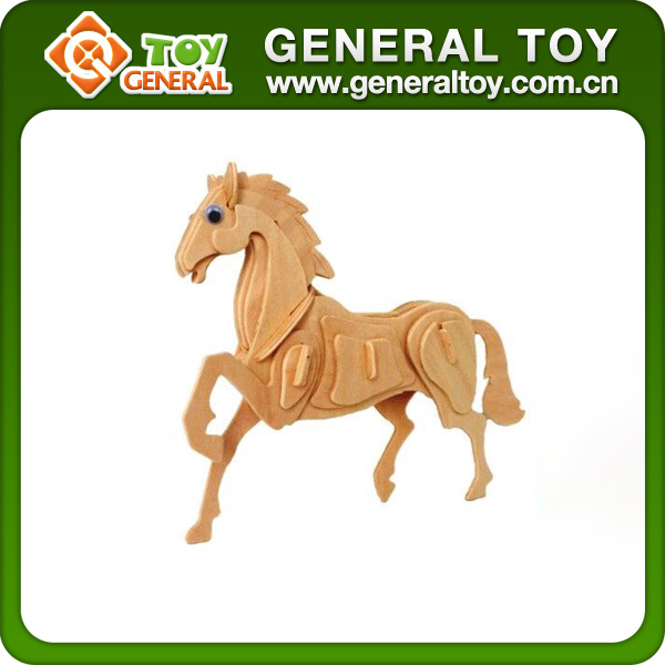 23*18.5*0.3cm Wood Toy Horse Wooden Animals Horse