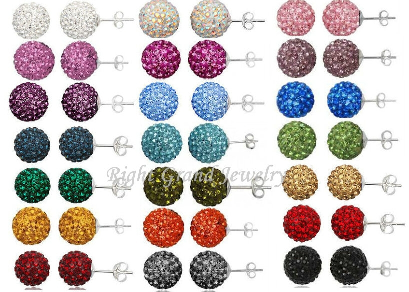 Promotion Prices 6mm 8mm 10mm Wholesale Shamballa Beads To Make Earrings Shamballa Earring