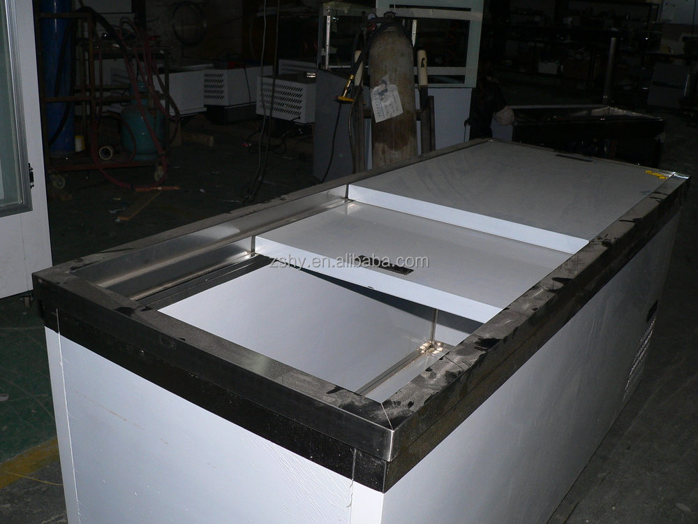horizontal type ice storage freezer