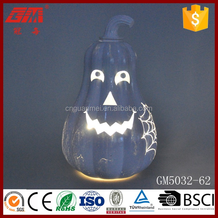 led lighted halloween decoration pumpkin with funny face