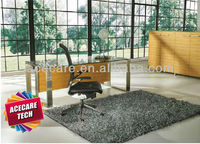 Office Desk/Creative stainless leg glass office table