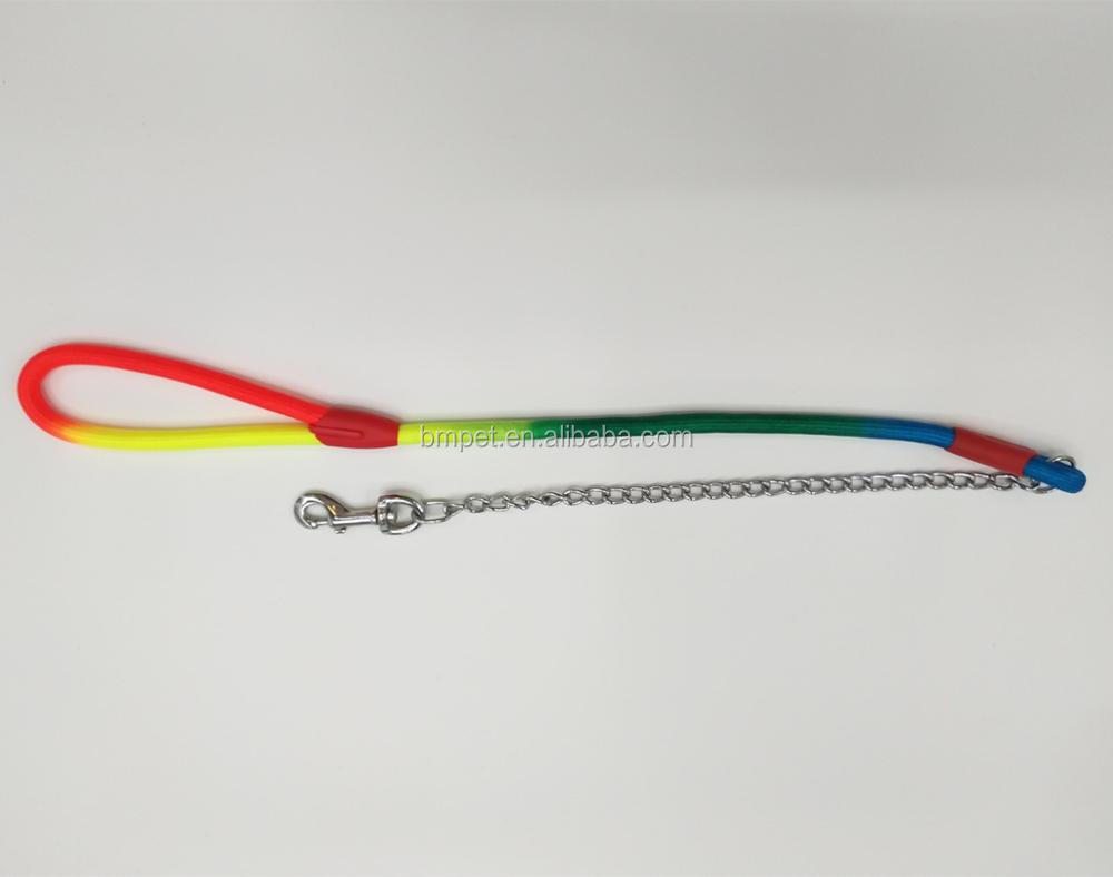 Factory Price Rainbow Pet Dog Chain Leash