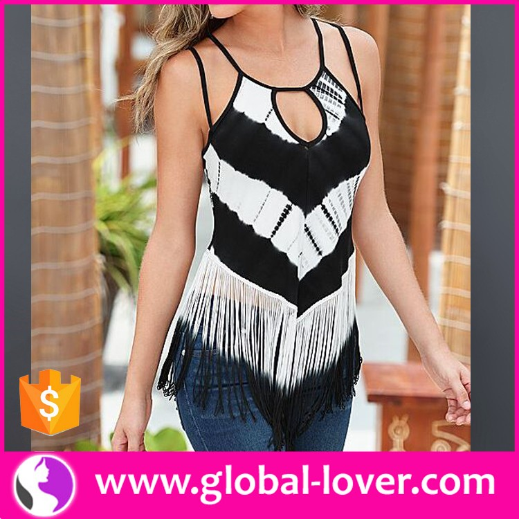 latest design fancy indian tunic sleeveless sexy boho tops for women