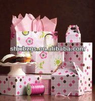 pink paper bag for mini gift