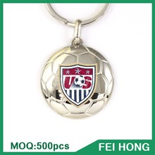 Custom Logo Printed Soccer Shape Blanks Metal Keyring Novelty gifts ideas for men