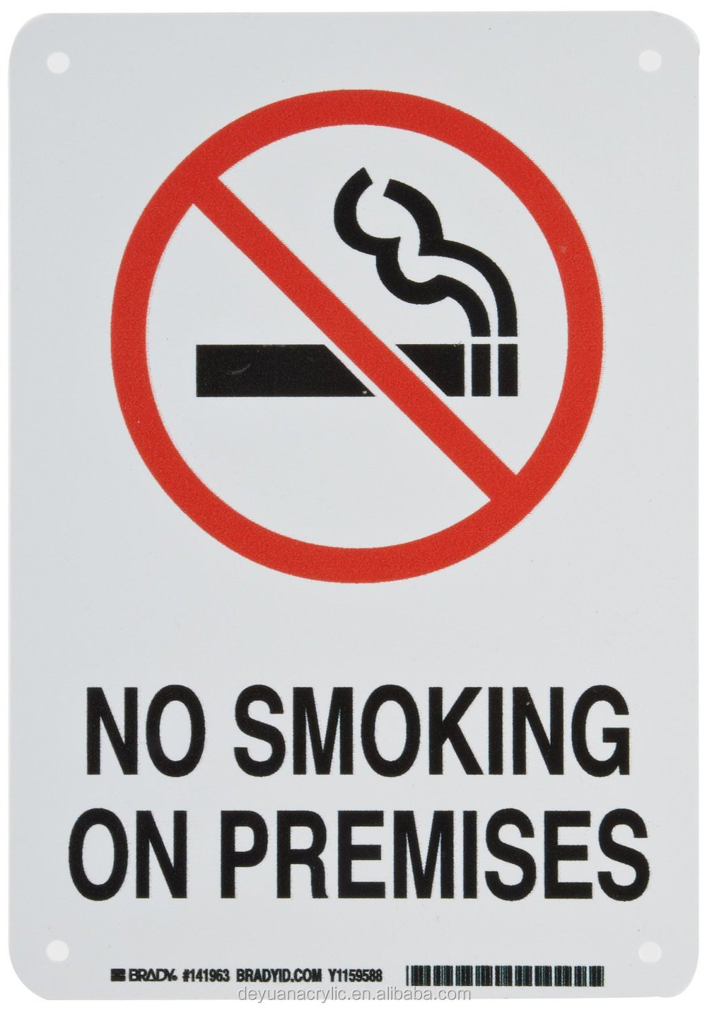 No smoking acrylic sign board for occasions sidplayer