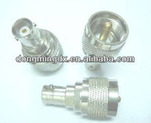 UHF male plug to BNC female jack RF coaxial adapter connector