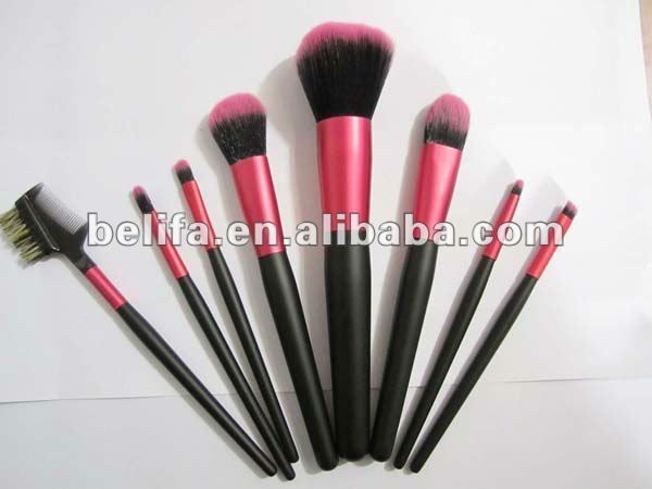Red Cosmetic Makeup Brush Sets Free Sample