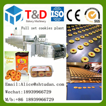 Complete cookies bakery processing 500kg/h Butter Cookies Making Machine Siemens PLC system Wire-Cut Cookies Production Line