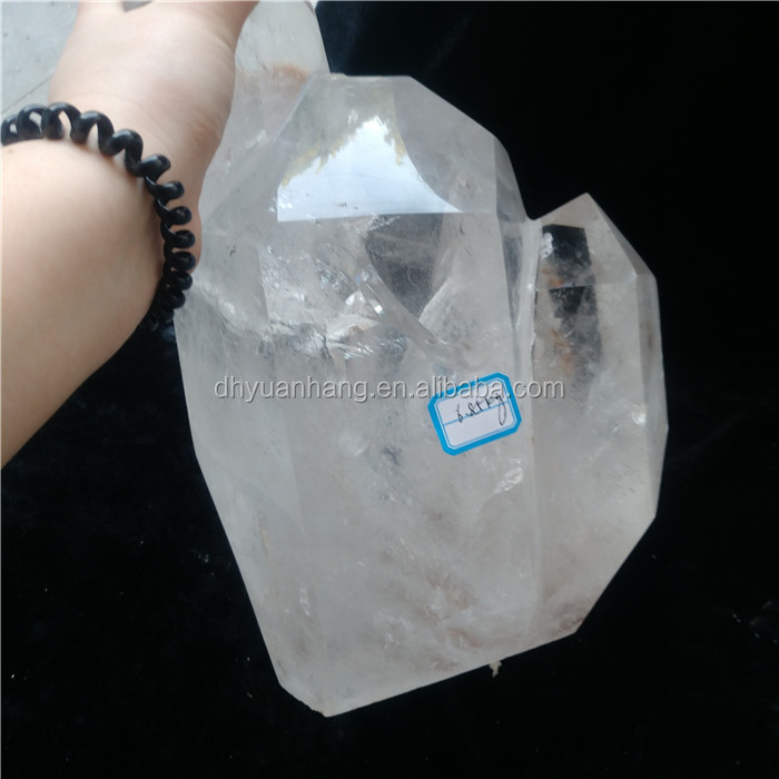 Natural rock clear quartz crystal points big size crystal healing mountain wands