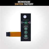 New Emboss type button waterproof membrane switch with LED light