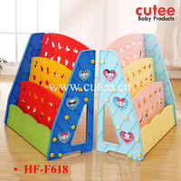 Triangle Children Modern Bookshelf Kids Plastic Colorful Bookcase