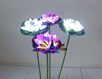 Yeenoo LED beads emitting lifelike lotus flower garden plant lamp or lights