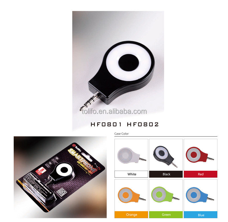 Selfie ring light LED finger size mobile phone from wholesale photography supplies