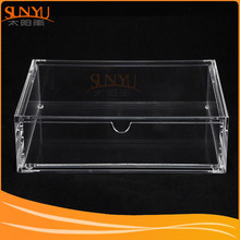 Clear Acrylic Jewelry Box with One Drawer Acrylic Jewelry Chest with Lid and Drawer