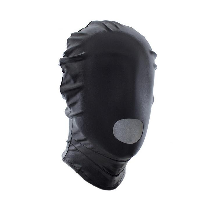 Elastic Spandex Mask hood with open mouth hole, club party mask, cosplay hood Fetish