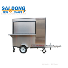 new outdoor mobile fast food kiosk /crepe cart