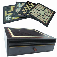 wooden chessboard chess printing chess wood chess set 10 in 1 game set