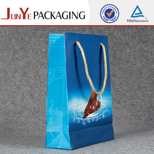 Custom logo holographic happy birthday gift paper bags